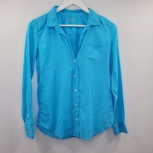 Lilly Pulitzer Anna Maria Button Up Shirt Blue